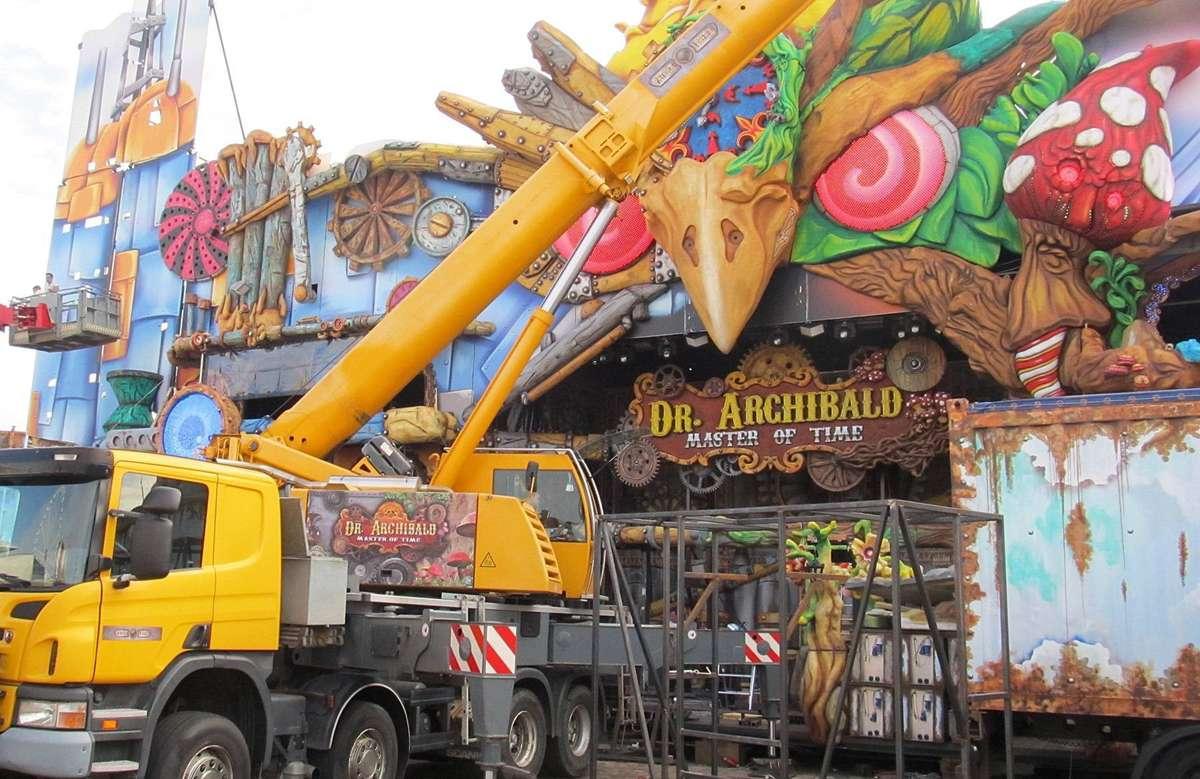 """Die Multimedia-Geister- und Abenteuerbahn """"Dr. Archibald"""" ist mit einem Ticketpreis 7,50 Euro das teuerste Geschäft auf der Bürgerweide."""