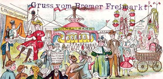 Bremer Freimarkt wurde mal in der Neustadt gefeiert