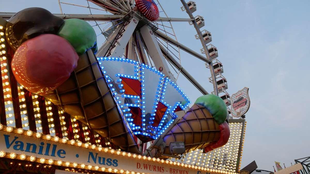 Trotz Sturm am Sonntag: Bremer Freimarkt seit 12 Uhr geöffnet