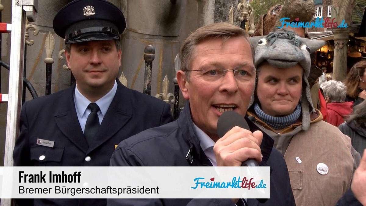 Bremer Freimarkt ist eröffnet: Roland trägt ab sofort wieder Herz