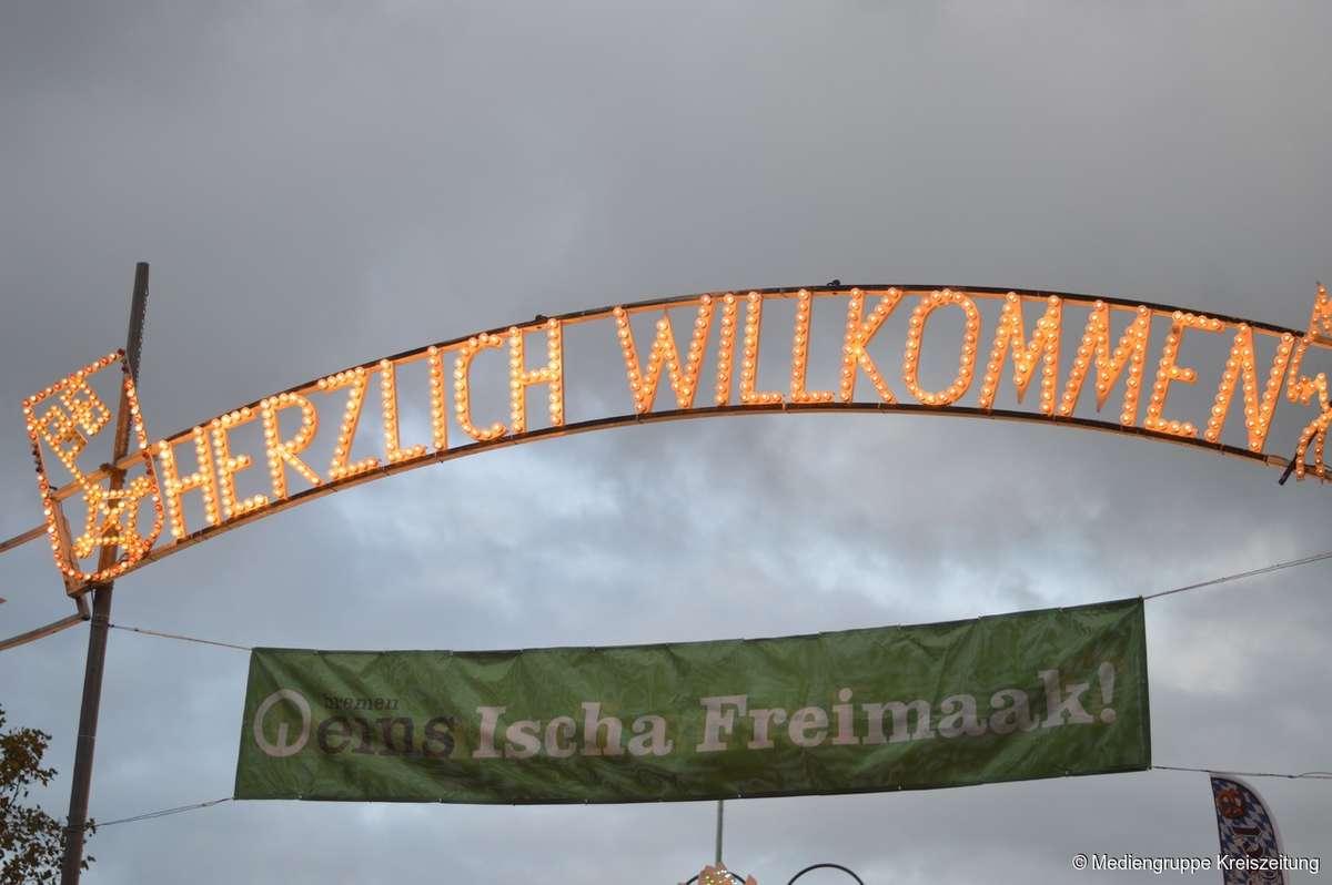 Bremer Freimarkt am Montagabend